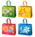 colourful Shopping bag vector image