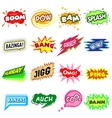 Comic sound set icons set simple style vector image vector image