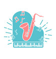 concept of jazz music vector image vector image