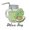 detox day healthy eating program vector image vector image