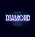 diamond font 3d bold style vector image vector image