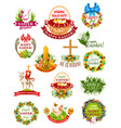 easter holiday label badge and symbol set vector image vector image