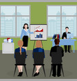 flat human resources background vector image vector image