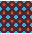 Flat Seamless Background Pattern Music Vinyl Disc vector image vector image