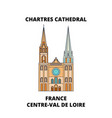france centre-val de loire - chartres cathedral vector image vector image