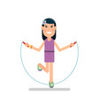 girl jumping rope vector image vector image
