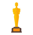 golden statuette a man on a stand film award vector image vector image