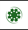 green gear or cogs logo design vector image vector image