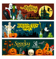 halloween holiday zombie party invitation banner vector image vector image