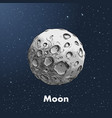 hand-drawn sketch of moon in color against a vector image vector image