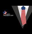 happy presidents day design usa necktie vector image vector image