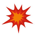 heavy explosion icon isolated vector image vector image