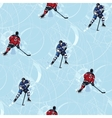 Ice hockey players seamless pattern vector image vector image