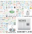 internet and general icons vector image