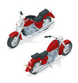 isometric motorcycle or motorbike isolated on vector image vector image