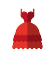 long layered dress with cleavage and straps icon vector image