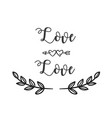 love love arrow grass white background imag vector image
