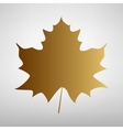 Maple leaf sign vector image vector image