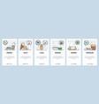 mobile app onboarding screens indian food lassi vector image