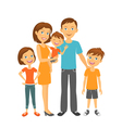 Mother and father with children Happy family vector image vector image