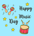 music day hand draw style card collection vector image vector image