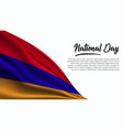 national day banner with armenia flag background