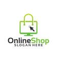 online shop logo designs template vector image vector image