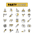 party pictograms oitlined icons set vector image vector image