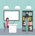 people workspace interior vector image