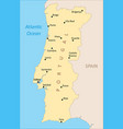 portugal region map vector image vector image