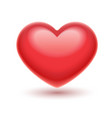 red heart romantic symbol vector image