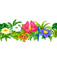 seamless pattern with tropical flowers exotic vector image vector image