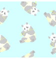 seamless texture of a panda vector image