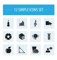 set of 12 editable education icons includes vector image