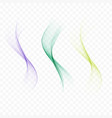 set of abstract colored wavescolor smoke wave vector image