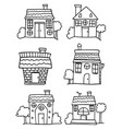 set of house hand draw collection vector image vector image
