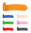 set of multi coloured banners vector image vector image