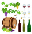 set of wine icons vector image vector image