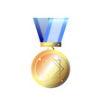 simple golden medal winner prize isolated on vector image