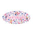 skateboarders on skateboard skateboarding vector image vector image