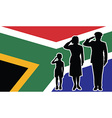 South Africa soldier family salute vector image vector image