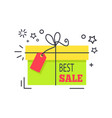 special offer promo sticker shopping packed box vector image vector image