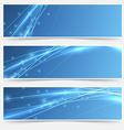 Speed swoosh electric wave lines header set vector image vector image