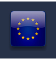 Square icon with flag of Europe vector image vector image