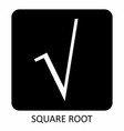 square root icon vector image vector image