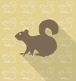 squirrel sit vector image vector image
