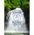 Summer holiday label logo on the background vector image