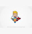 superhero cute mascot vector image