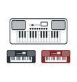 Synthesizer Icons Set vector image