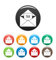 tax email icons set color vector image vector image